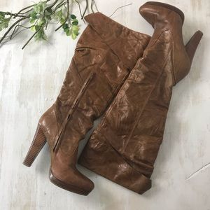 Jessica Simpson Knee High Leather Boots 8